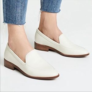 Madewell The Frances Loafers in white size 8 nwot